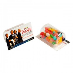 Biz Card Treats with Jelly Beans 25G (Corporate Colours)