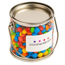Small PVC Bucket Filled with Mini M&Ms 170G