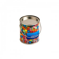 Big PVC Bucket Filled with Choc Beans 875G (Mixed Colours)