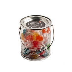 Big PVC Bucket Filled with Small Lollipops X50