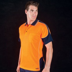 JB's HV 4602.1 S/S Contrast Piping Polo