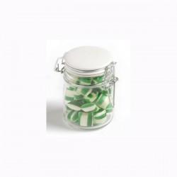 Corporate Coloured Humbugs in Glass Clip Lock Jar 160G