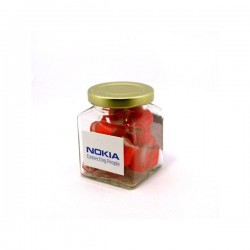 Personalised Rock Candy in Glass Square Jar