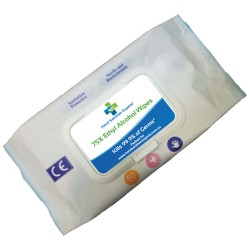 50 Pack Antibacterial Hand Sanitiser Wipes
