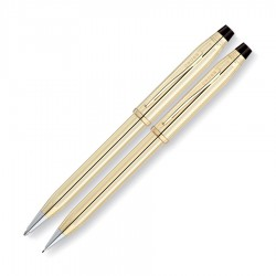 Cross Century II 10 Carat Gold Pen And Pencil Set
