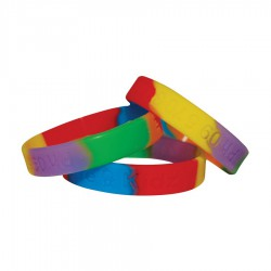 Sectional Colour Wristbands - debossed