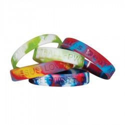 Multi-coloured Wristbands -debossed