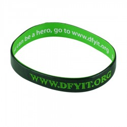Wristband With Inside Print and Outside Colour Infill