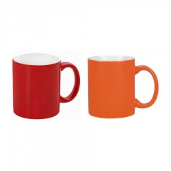 Toronto Can Mug two tone (300ml) White/RED White/Orange