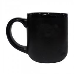 Vegas Mug Inner Glossy black/ Outer Matte Black(480 Ml)