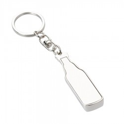 Metal Key Ring Bottle Opener Bottle Shape