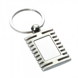 Metal Key Ring Grooved Rectangle