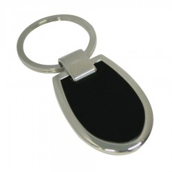 Metal Key Ring Shield (black)