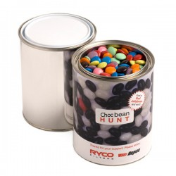 Paint Tin Filled with Choc Beans 1Kg (Mixed Colours)